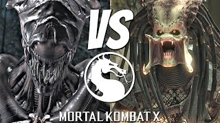 Mortal Kombat X - Alien Vs. Predator Matches Gameplay Brutality Fatality [1080p 60fps]