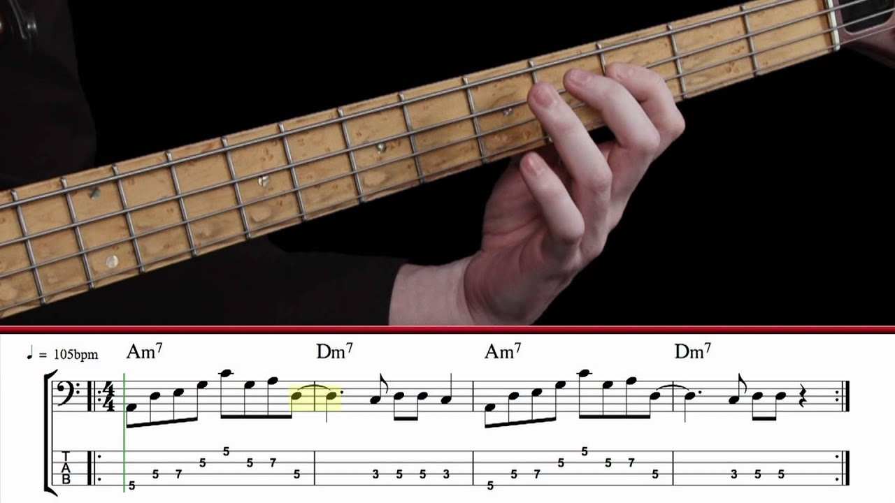 advanced bass lesson 28 grooving with pentatonic scales youtube. Black Bedroom Furniture Sets. Home Design Ideas