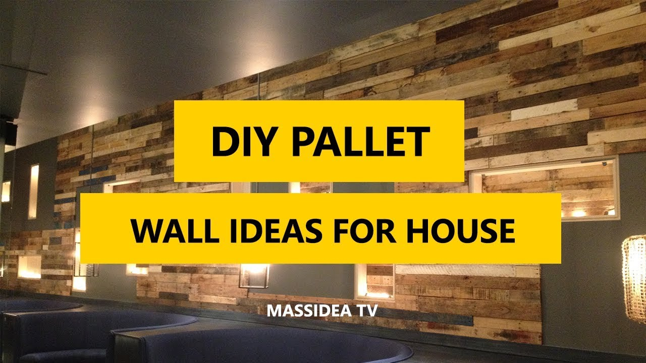50+ Amazing DIY Pallet Wall Ideas for Your House 2018 - YouTube