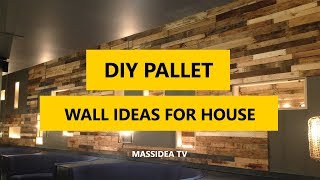 50+ Amazing DIY Pallet Wall Ideas for Your House 2018