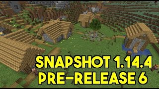 1.14.4 Pre-release 6 Minecraft Snapshot Review  Villager Changes Performance Improvements And More