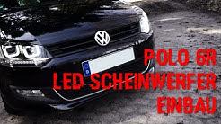 Scheinwerfer U-tube Vw Polo 6r 6c 2009- Schwarz Tagfahrlicht Optik Led Blinker