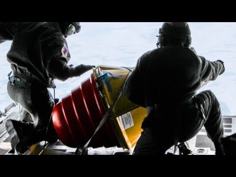 DROPPING BUOYS from a C-130 into the ICY ARCTIC near NORTH POLE! International Arctic Buoy Program.