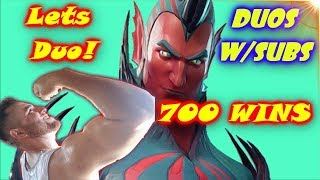 FlyTrap FORTNITE NEw Skin playing with Duos Blitz!!
