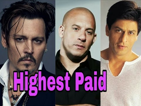 Top 10 Highest Paid Male Actors In The World (2016) |Shahrukh Khan | Johny Dhepp | Tom Cruise |