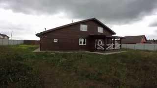 360 Обзор двухэтажного жилого дома из бруса с гаражом(Предлагаем вашему вниманию обзорное видео типового дома с гаражом 200 кв. метров общей площади. Конструктивн..., 2015-09-17T07:02:11.000Z)