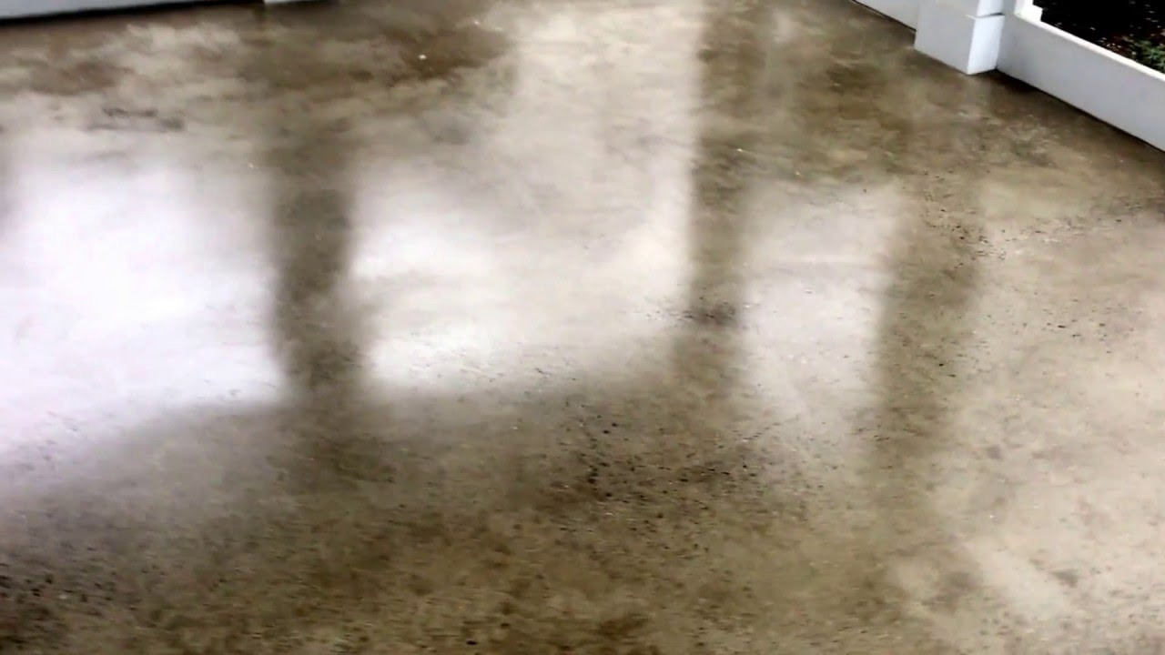 Polished Concrete Screened Porch Floor Youtube