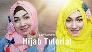 Easy Layered Hijab Tutorial for Begginer Eid Special   Pari ZaaD