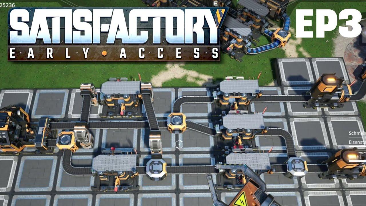 SATISFACTORY Deutsch German Gameplay EP 3 / Steam Early Access Satisfactory Gameplay Deutsch German