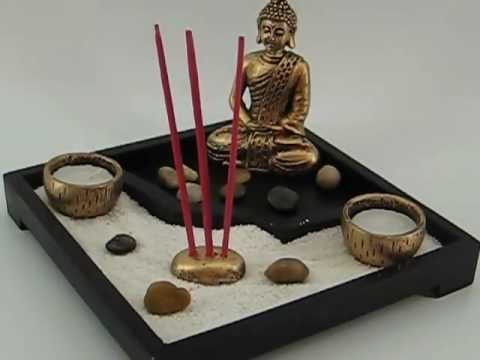 Jardin zen con buda 80484d avi youtube for Jardin zen mini