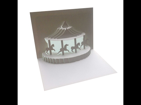 Carousel Pop Up Card Tutorial - Origamic Architecture