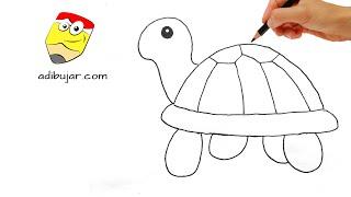 Cómo dibujar una tortuga fácil: Emojis Whatsapp paso a paso | How to draw turtle emoji