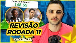 Cartola FC #11 Rodada | REVISÃO PÓS MITADA DE 148P