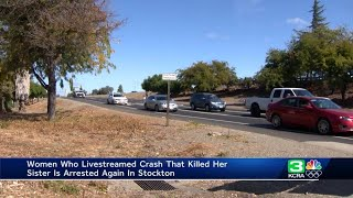 Stockton woman who livestreamed fatal crash arrested again after leading police on a chase