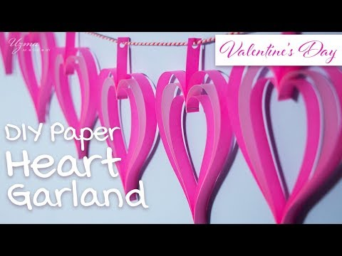 DIY Paper Heart Garland | Valentine's Day Decoration Idea | Easy Craft Project