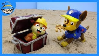 Paw Patrol toys episode. Find the treasure chest. Paw Patrol Adventure story.