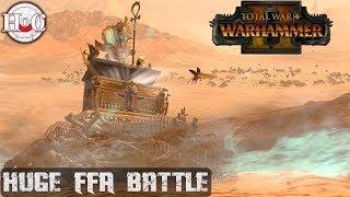 HUGE FFA BATTLE - Total War Warhammer 2 - Online Battle 268
