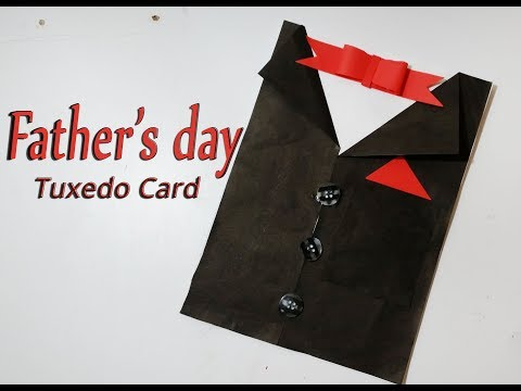 DIY Card for Father's Day | Father's Day Tuxedo Card idea | tuxedo Card for Father's Day