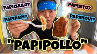 PROBANDO EL PAPIPOLLO DE OTAVALO 😁 (con arroz y ensalada) | CONOCIENDO ECUADOR #15