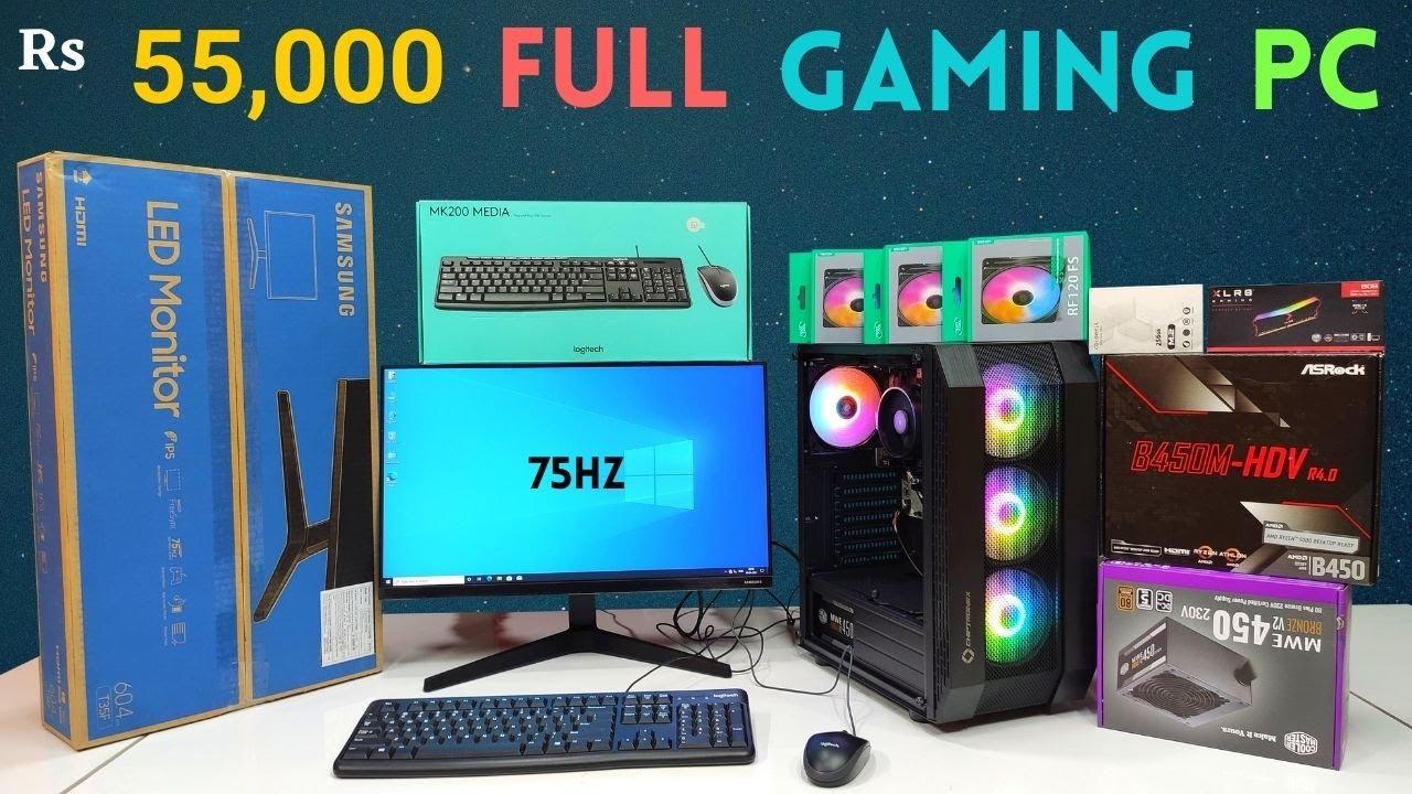 Rs 55000 Full Gaming PC Build   Ryzen 5   Full PC   Mr Pc Wale