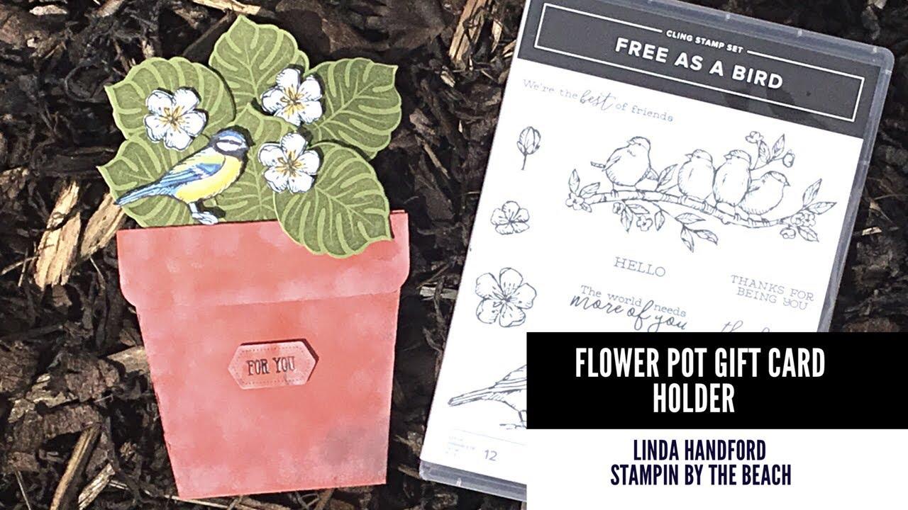 Flower Pot Gift Card Holder - YouTube