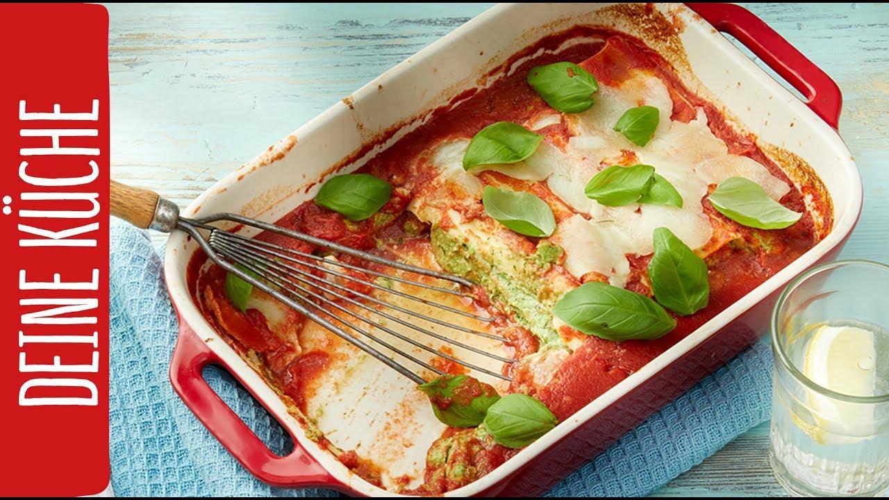 Nudelauflauf   Spinat-Ricotta Cannelloni   REWE Deine Küche