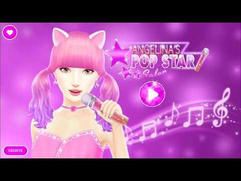 Angelina's Pop star salon - Dressing game for kids - dress up