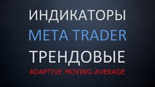 Adaptive Moving Average. Трендовые индикаторы MetaTrader