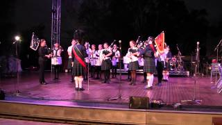 PLC Proms Concert 2015: Pipe Band 2 - Land of our Birth, Presbyterian Ladies, Scotland the Brave
