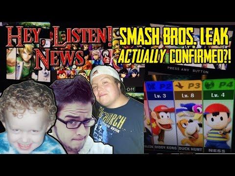 Hey, Listen! Smash Bros. Leak ACTUALLY Confirmed?!