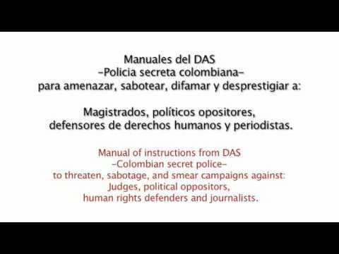 Manuales para amenazar del DAS, la policia secreta de Uribe.