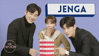 Ha Ji-won, Yoon Kye-sang, and Jang Seung-jo play Jenga [ENG SUB]