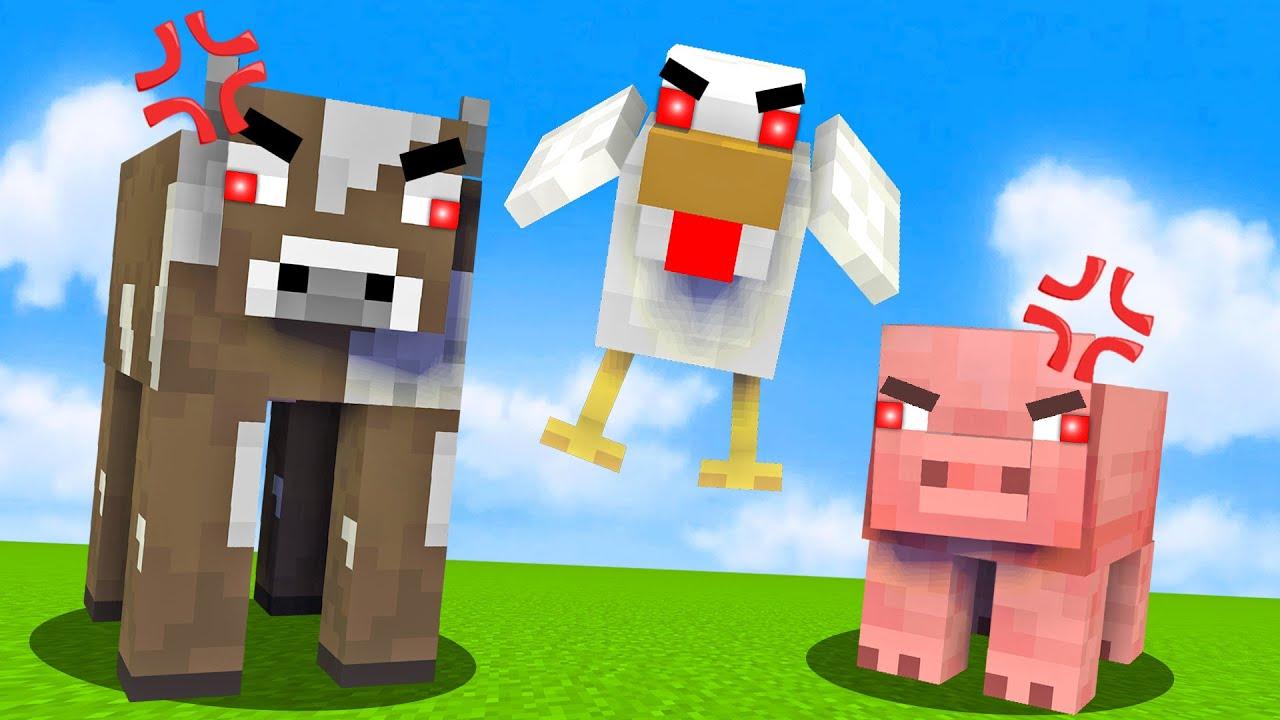 Minecraft, Aber Alle Mobs Sind Aggressiv