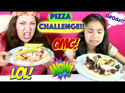 PIZZA CHALLENGE!! With GROSS!! Ingredients SARDINES COOKIES PICKLES |B2cutecupcakes