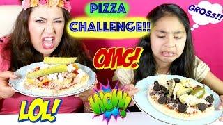 PIZZA CHALLENGE!! With GROSS!! Ingredients SARDINES COOKIES PICKLES  B2cutecupcakes