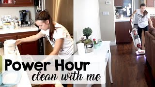 CLEAN WITH ME! Power Hour Speed Clean | Kitchen, Living Room & Play Room