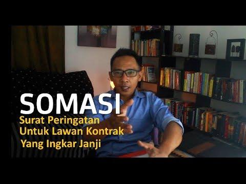 SOMASI, Surat Peringatan Untuk Lawan Kontrak Yang Ingkar Janji