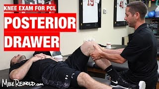 Posterior Drawer PCL Special Test - Knee Clinical Examination