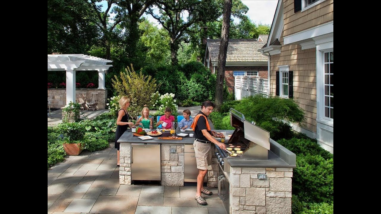 Backyard bbq area design ideas - YouTube