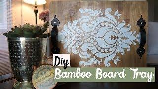 Dollar Tree DIY Bamboo Board Tray 🎍