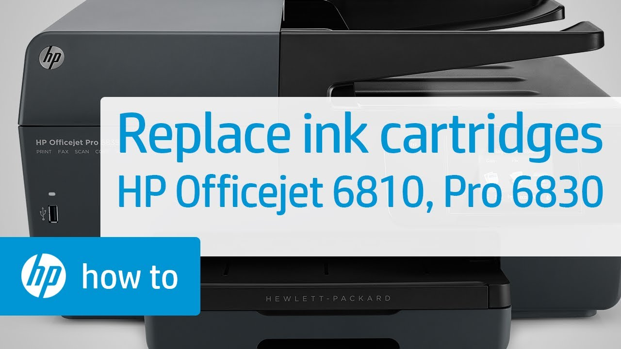 Replacing Ink Cartridges On The Hp Officejet All In One