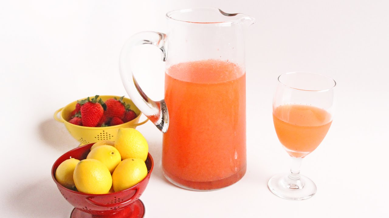 Homemade Pink Strawberry Lemonade - Laura Vitale - Laura in the Kitchen Episode 930