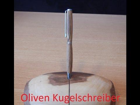 Kugelschreiber Drechseln, Woodturning a Pen DIY