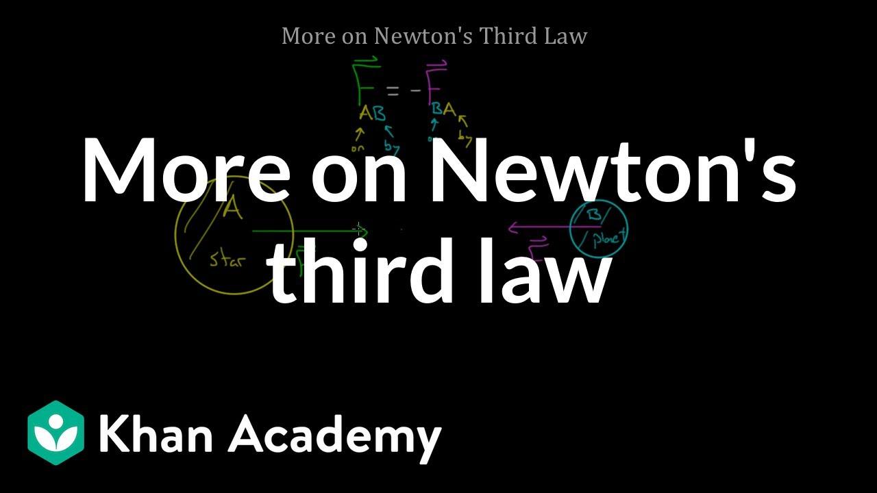 medium resolution of More on Newton's third law (video)   Khan Academy