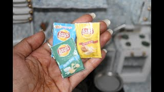 MINIATURE LAYS CHIPS/ #MINIATURE MINUTES /HOW TO MAKE LAYS potato  CHIPS
