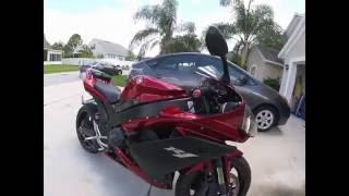 2007 Yamaha R1. walk around/ startup, CCFL Angel eyes, Titanium Exhaust