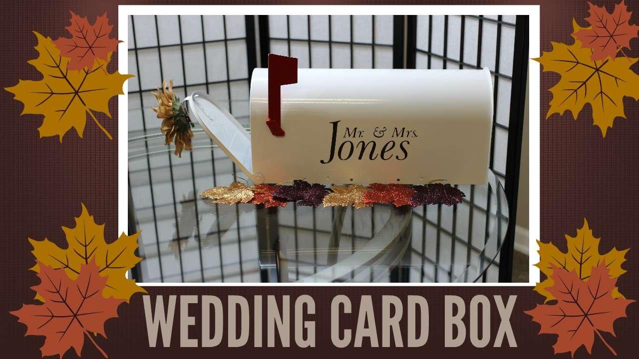 DIY Wedding Crafts Collab w/ NiaNicole! Wedding Card Box [MAILBOX ...