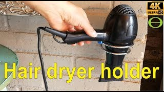 How to install a hair dryer holder