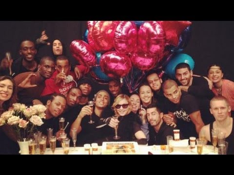 Madonna Backstage Surprise Party