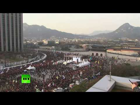 Over 1mn rally for President Park's impeachement in Seoul, South Korea